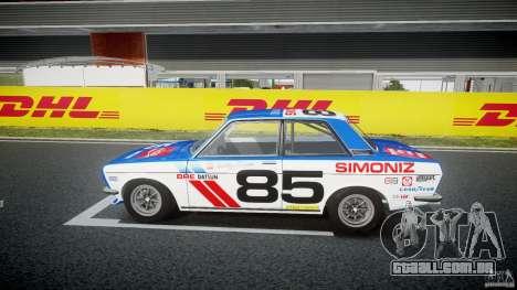 Datsun Bluebird 510 1971 BRE para GTA 4 esquerda vista