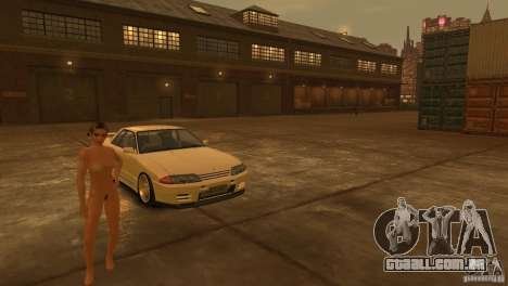 Nissan Skyline R32 para GTA 4 vista lateral