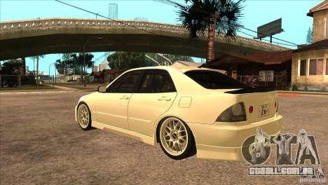 Toyota Altezza RS200 JDM Style para GTA San Andreas traseira esquerda vista