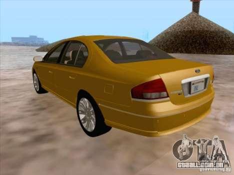 Ford Falcon Fairmont Ghia para GTA San Andreas vista inferior