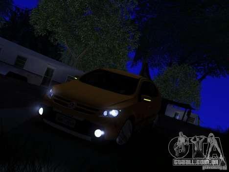 Volkswagen Gol Rallye 2012 para GTA San Andreas vista traseira