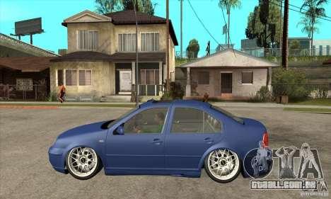 VW Bora VR6 Street Style para GTA San Andreas esquerda vista