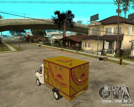 Gazela Gaz-3302 Grill para GTA San Andreas esquerda vista