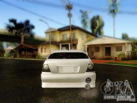 Lexus IS300 Jap style para GTA San Andreas vista traseira