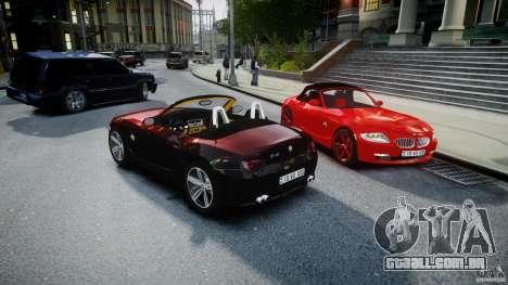 BMW Z4 Roadster 2007 i3.0 Final para GTA 4 vista inferior