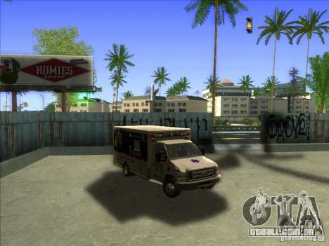 Ford E-350 Ambulance para GTA San Andreas vista traseira