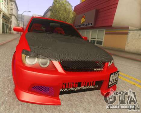 Toyota Altezza Drift Style v4.0 Final para GTA San Andreas traseira esquerda vista