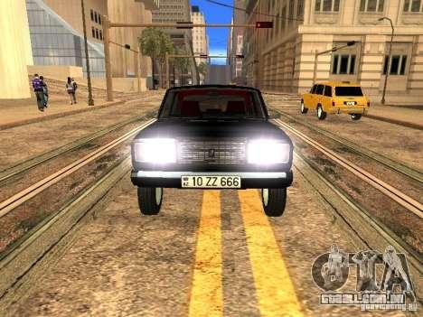 Estilo ZZ 2107 VAZ para GTA San Andreas vista traseira