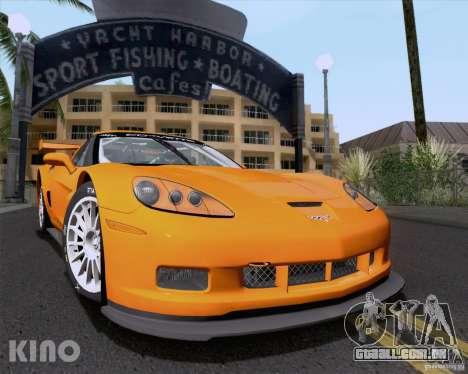 Chevrolet Corvette C6 Z06R GT3 v1.0.1 para GTA San Andreas vista superior