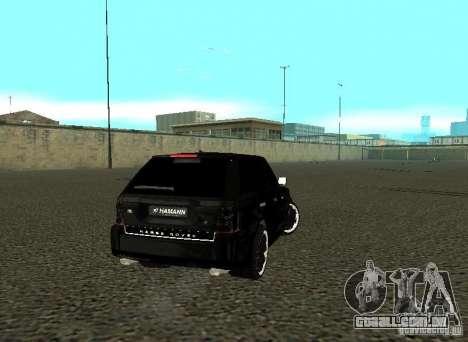 Land Rover Range Rover Sport Hamann para GTA San Andreas vista direita