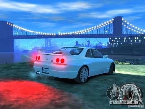 Nissan Skyline GT-R V-Spec (R33) 1997 para GTA 4 vista direita