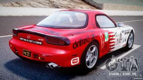 Mazda RX-7 1997 v1.0 [EPM] para GTA 4 traseira esquerda vista