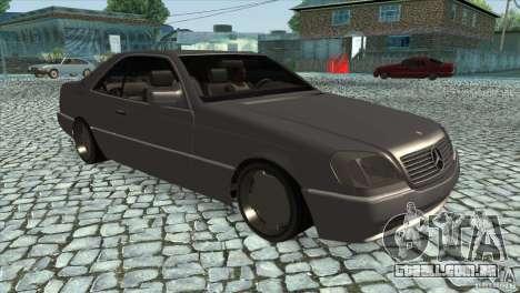 Mercedes Benz 600 Sec para GTA San Andreas vista traseira