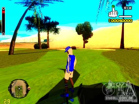 Pele vagabundo v4 para GTA San Andreas segunda tela