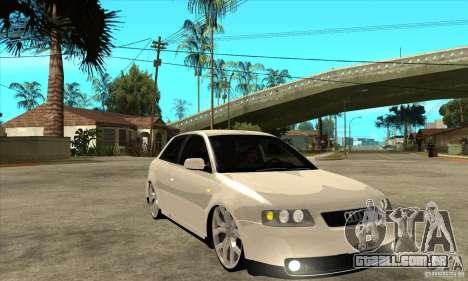 Audi A3 para GTA San Andreas vista traseira
