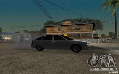 Hatchback tuning luz de LADA priora para GTA San Andreas vista direita