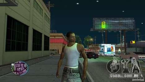 GTA IV HUD para um ecrã largo (16:9) para GTA San Andreas