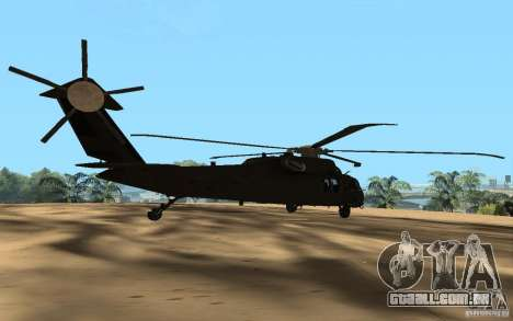 UH-60 Silent Hawk para GTA San Andreas esquerda vista