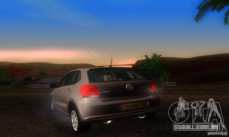 Volkswagen Polo 1.2 TSI para GTA San Andreas traseira esquerda vista