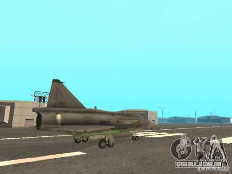 Saab JA-37 Viggen para GTA San Andreas vista interior
