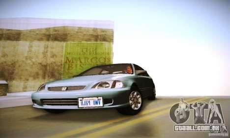 Honda Civic EK9 para GTA San Andreas vista traseira