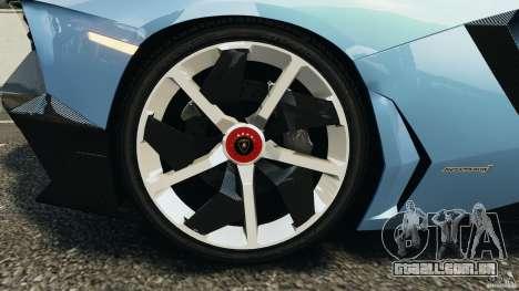 Lamborghini Aventador J 2012 para GTA 4 vista lateral