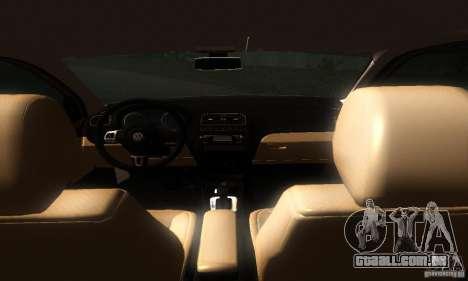 Volkswagen Polo 1.2 TSI para GTA San Andreas vista traseira