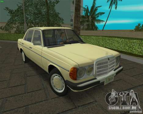 Mercedes-Benz 230 1976 para GTA Vice City vista traseira esquerda