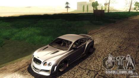 Bentley Continental GT Premier4509 2008 Final para GTA San Andreas vista superior
