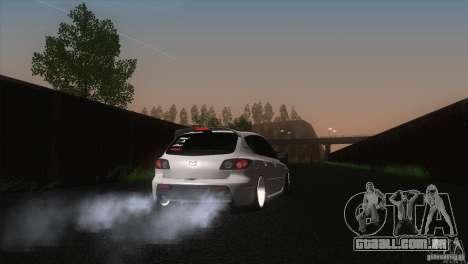 Mazda MazdaSpeed 3 para GTA San Andreas traseira esquerda vista