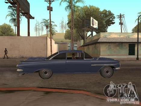 Chevrolet Biscayne 1959 para vista lateral GTA San Andreas