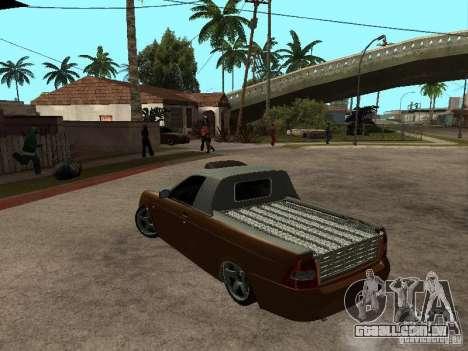 LADA 2170 Pickup para GTA San Andreas esquerda vista