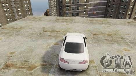 Infiniti G35 para GTA 4 vista de volta