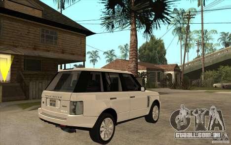 Range Rover Supercharged 2008 para GTA San Andreas vista direita