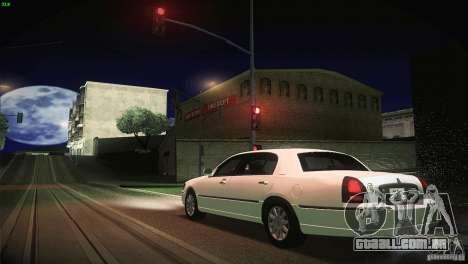 Lincoln Towncar 2010 para GTA San Andreas vista superior