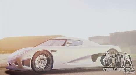 Koenigsegg CCX 2006 v2.0.0 para GTA San Andreas esquerda vista