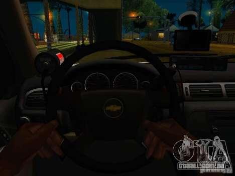Chevrolet Tahoe Texas Highway Patrol para GTA San Andreas vista traseira