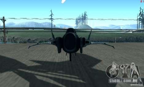 BatWing para GTA San Andreas traseira esquerda vista