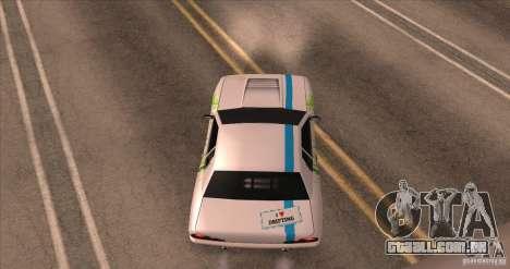 Paintjob for Elegy para GTA San Andreas vista traseira