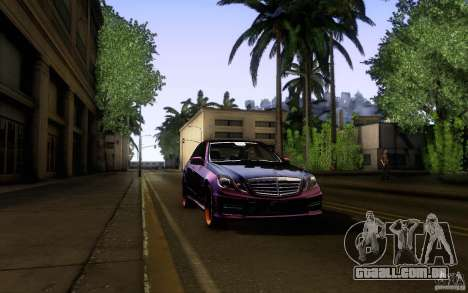 Mercedes Benz E63 DUB para GTA San Andreas vista superior