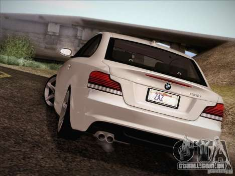 BMW 135i para GTA San Andreas vista superior