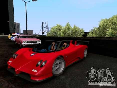 Pagani Zonda EX-R para GTA San Andreas vista traseira