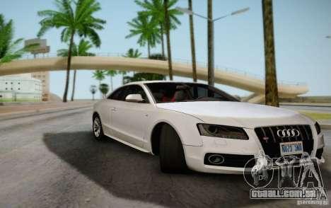 Audi S5 para GTA San Andreas vista traseira