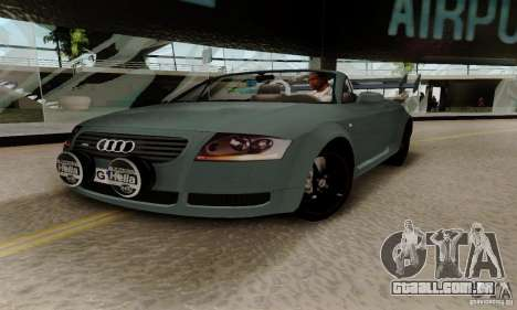 Audi TT Roadster para GTA San Andreas vista interior