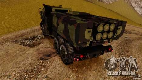 M142 HIMARS para GTA 4 traseira esquerda vista