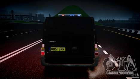 Ford Transit SWAT [ELS] para GTA 4 interior