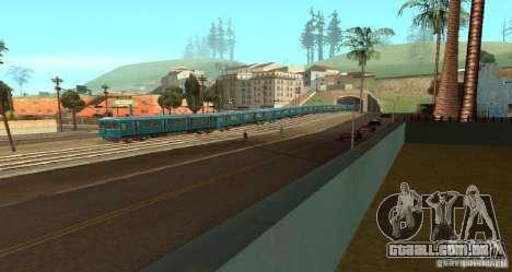 Metro tipo OURIÇO para GTA San Andreas vista direita