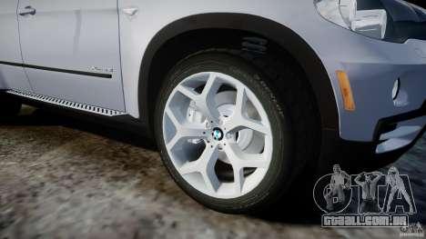 BMW X5 Experience Version 2009 Wheels 214 para GTA 4 vista inferior