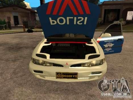 Mitsubishi Galant Police Indanesia para GTA San Andreas vista direita