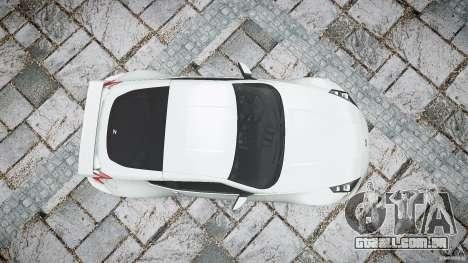 Nissan 370Z Nismo v1 para GTA 4 vista superior
